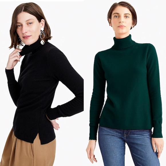 J. Crew Everyday cashmere turtleneck sweater NWT